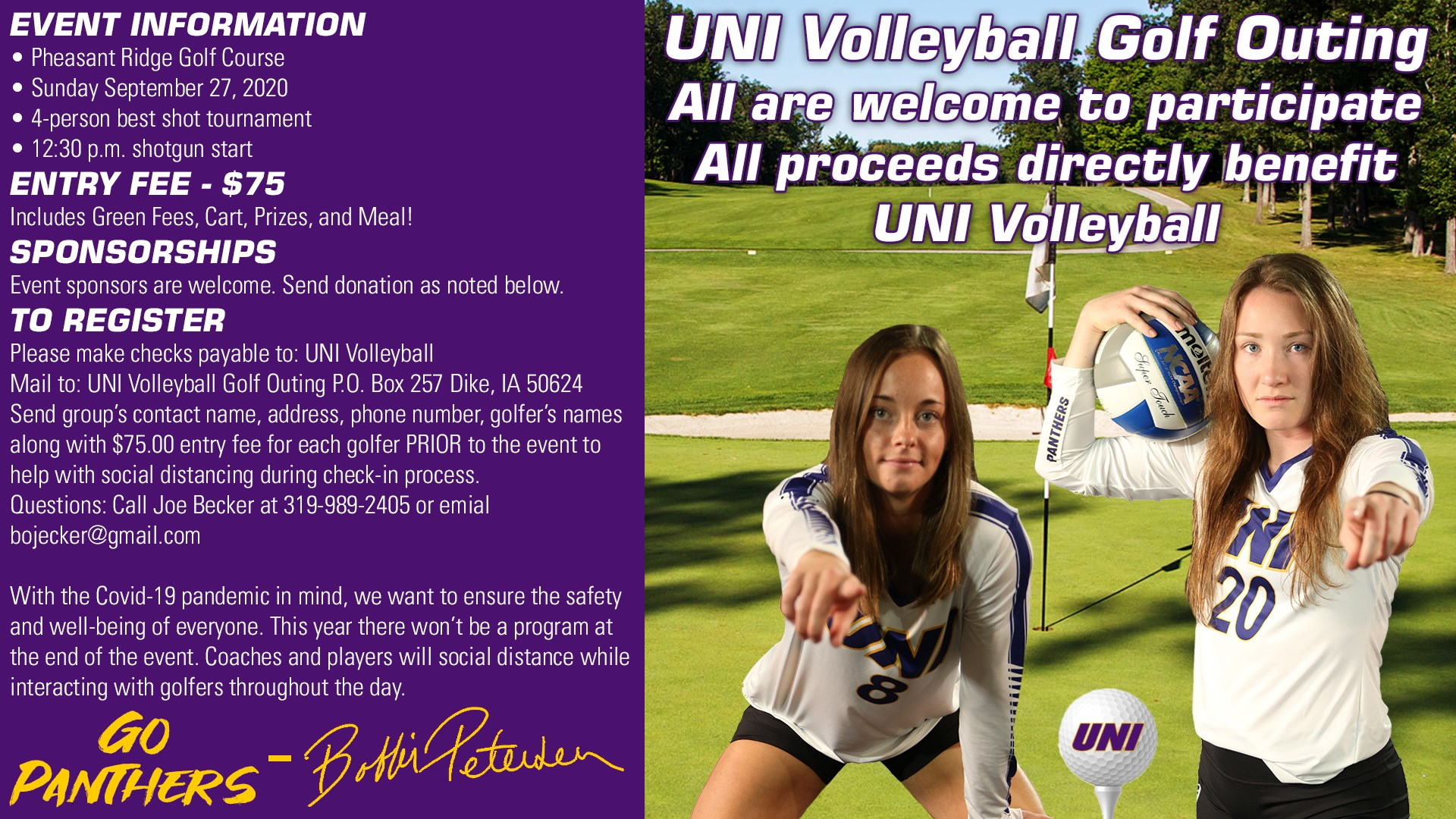 Volleyball Golf Outing Registration Opens Uni Athletics